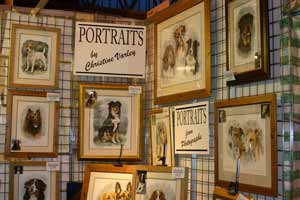 Pet Portrait Artist Christine Varley's Stand at Crufts